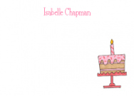 Pink Birthday Cake Flat Card