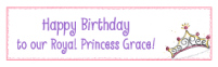 Princess Crown Waterproof Label