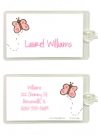 Pink Butterfly Bag Tag