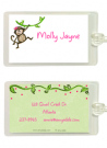 Monkey Girl Bag Tag