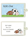 Sport Balls Personalized Bag Tag