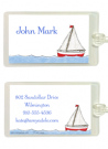 Sailboat Bag Tag