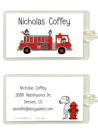 Fire Truck Folded Notecard