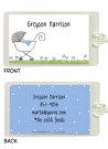 Baby Boy Stroller Bag Tag