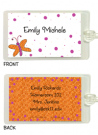 Butterfly With Polka Dots Bag Tag