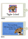Peeking Dog Waterproof Label