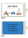 Car, Airplane and Boat Bag Tag