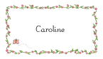 Caroline Border Calling Card Design