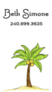 Palm Tree Calling Card Design