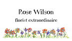 Summer Wildflowers Personal Calling Cards
