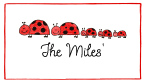 Ladybug Family Of 5 Personal Calling Cards