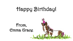 Horse Birthday Party Personal Calling Cards