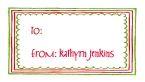 Triple Christmas Border Thank You Note