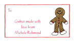 Gingerbread Man Calling Cards