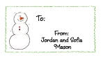 Snow Kids Folded Notecard