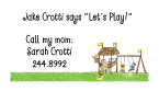 Playground Address Labels