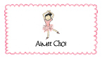 Asian Ballerina Thank You Note