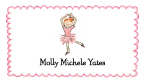 Red Head Ballerina Calling Cards