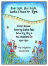 Twinkle Lights Garden Invitation