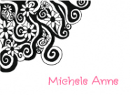 Black Floral Swirl Stationery