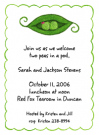 Peapod Family Girl & Boy Baby Shower Invites