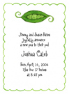 Peapod Family Of 4 Baby Shower Invites