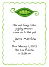 Peapod Family Of 5 Baby Shower Invites