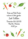 Veggie Party Invitations