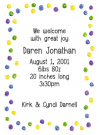 Happy Green Dots Border Party Invitations