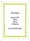 Green Speckled Border Baby Shower Invites