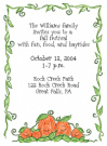 Pumpkin Family Of 5 Party Invitations