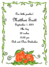 Pumpkin Family Of 3 Baby Shower Invites
