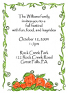 Pumpkin Family Of 5 Baby Shower Invites