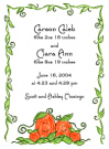 Pumpkin Family Twins Baby Shower Invites