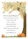 Autumn Tree Party Invitations