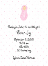 Newborn Girl Baby Shower Invites