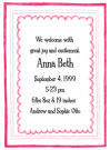 Triple Pink Border Baby Shower Invites