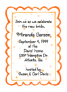 Peach Dots Border Invitations