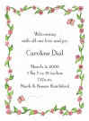 Caroline Border Baby Shower Invites