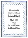 Triple Blue Border Invitations