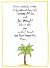 Palm Tree Invitations