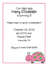Pink and Green Ladybug Invitation