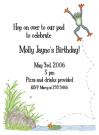 Frog Baby Shower Invitation Envelope