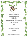 Girl Monkey Party Invitation Envelope