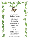 Monkey Birthday Invitation