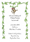 Girl Monkey Baby Shower Invites