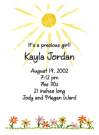 Sunshine Daisies Baby Shower Invites