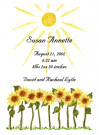 Sunflowers Personal Calling Cards