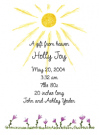 Purple Flowers Baby Shower Invites