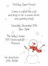 Cold Snowman Party Invitation Envelope
